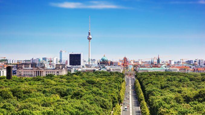 View of Tiergarten in Berlin
